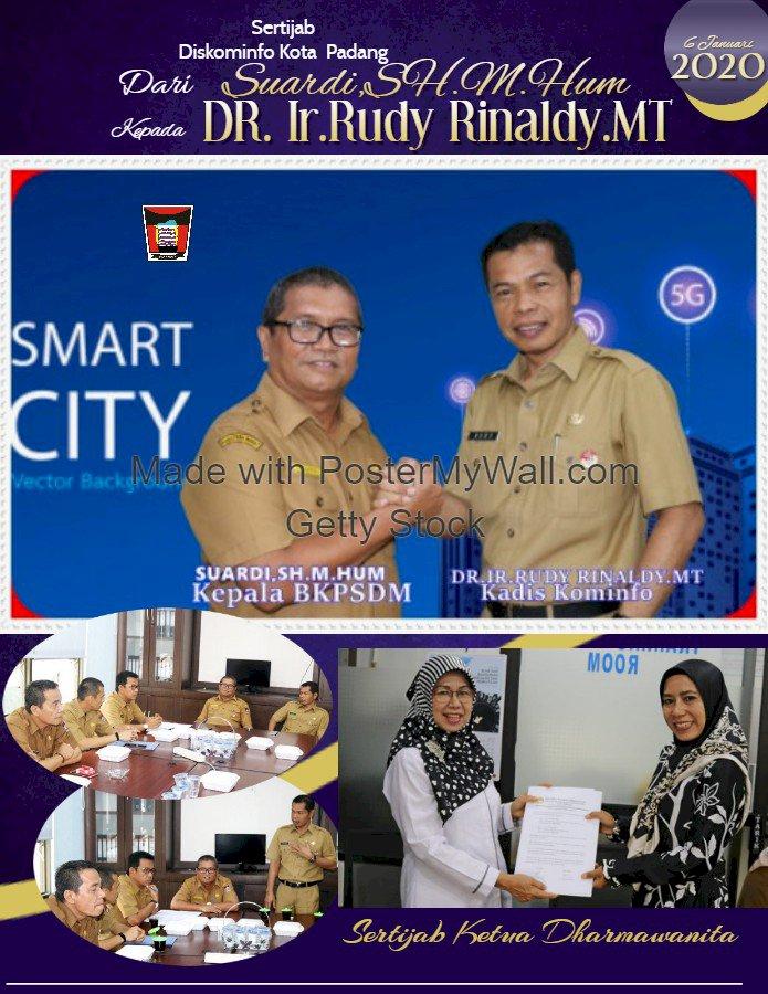 Rudy Jadi Kadis Kominfo, Suardi Kepala BKPSDM Kota Padang