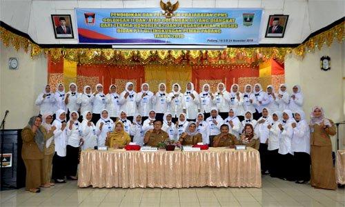 BKPSDM Padang Gelar Diklat Bagi CPNS Asal Honorer K2 Dan Bidan PTT